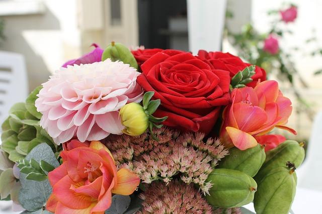 Flores para una pedida de mano