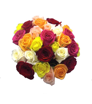Bouquet Multicolor de 30 Rosas