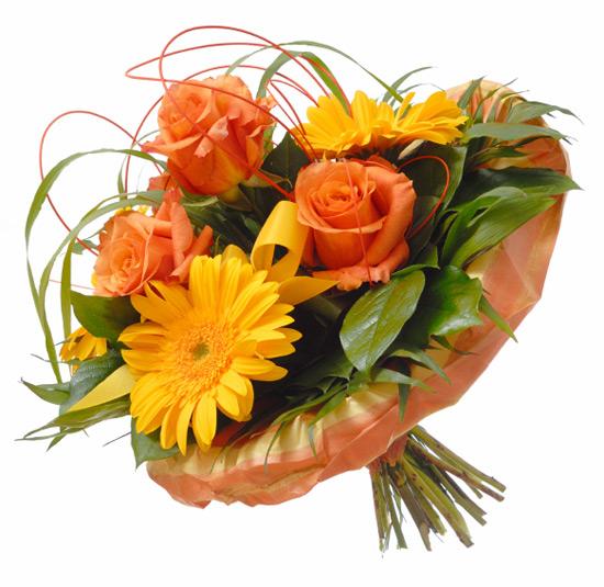 Bouquet de Rosas y Gerberas a domicilio con Flores4you.