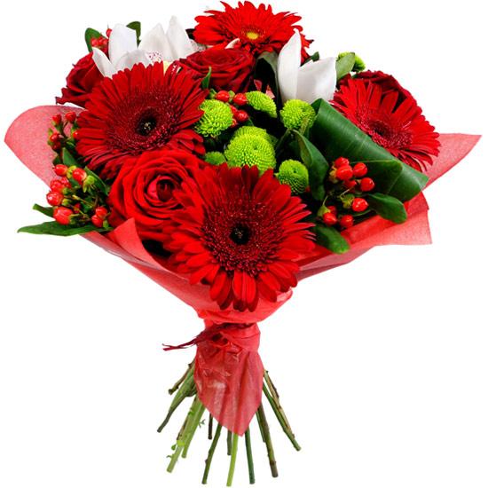 Ramo De Flores Gerberas Rojas A Domicilio Con Flores4you