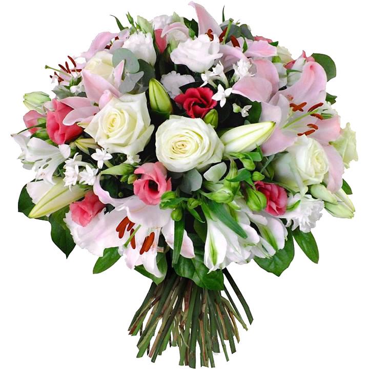 ramo de flores rosas y lilium